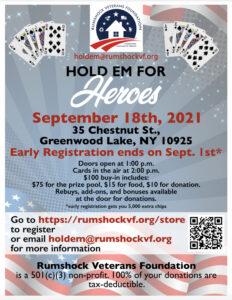 Hold 'Em for Heroes @ Greenwood Lake Elks Lodge